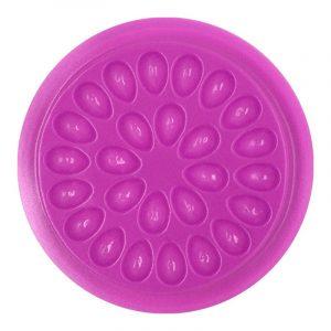 Öntapadós műszempilla ragasztó tartó (kör alakú, rózsaszín)
